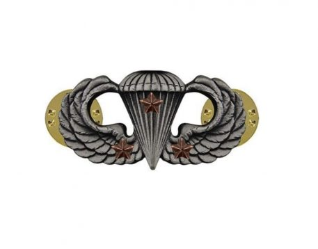 combat parachute badge 3rd award