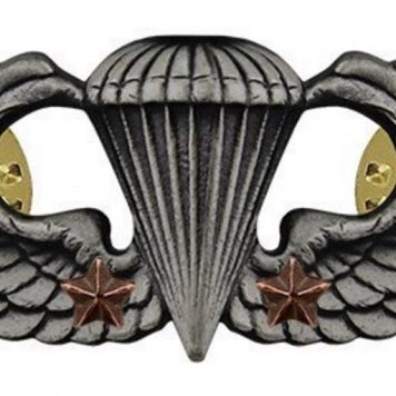 combat parachute badge 2nd award