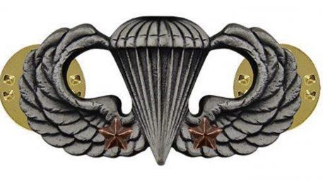 combat parachute badge 2nd award