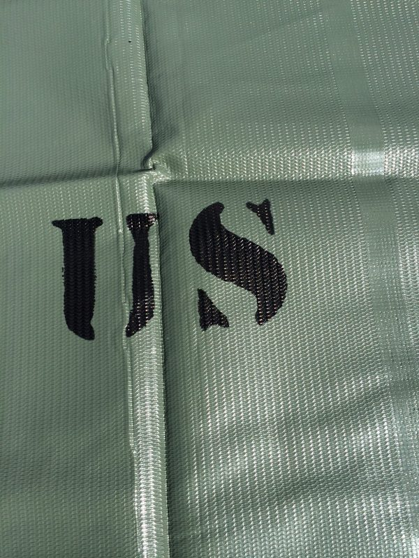miliary tarp with us letters