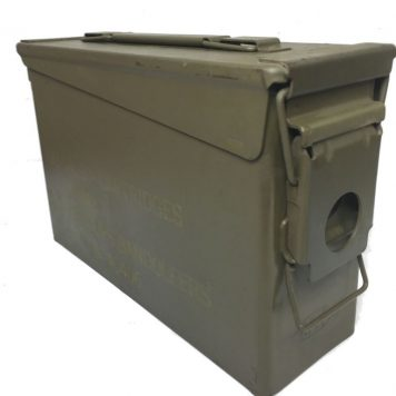 military surplus m-1 garand 30 cal ammo box