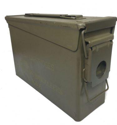 military surplus m-1 garand 30 cal ammo box