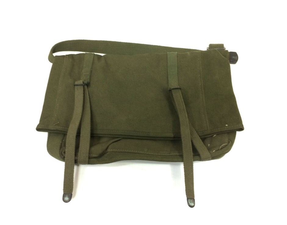 This is an image of a dark olive knapsack