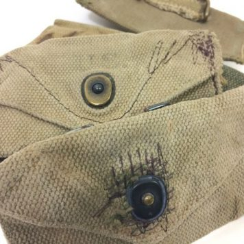 military surplus carlisle bandage pouch rough condition