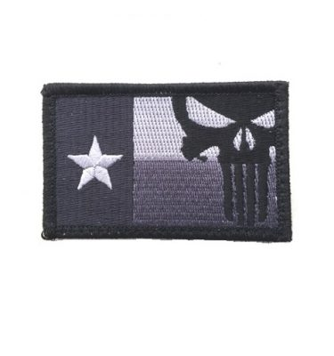 military surplus punisher texas patch with hook and loop