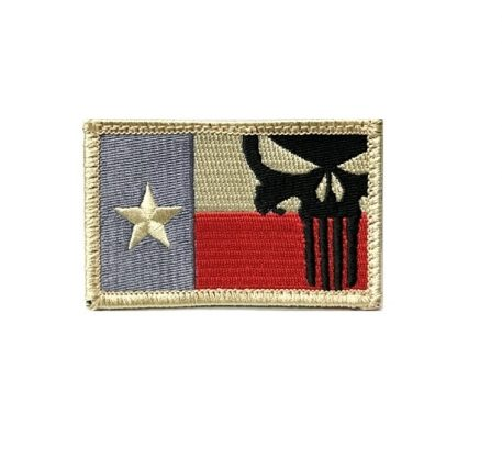 punisher texas patch hook and loop military surplus
