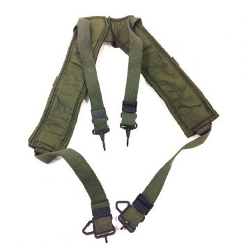 military surplus Vietnam Era M1956 Canvas/Nylon Suspenders, 73'dated NOS