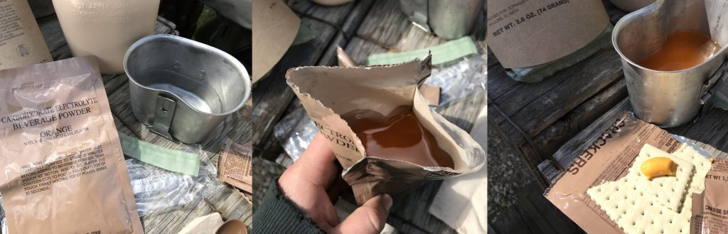 MRE meals ready to eat at military surplus stores