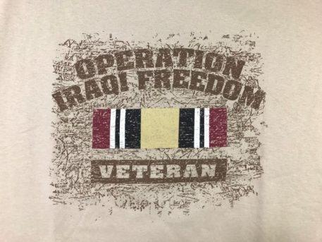 military surplus operation iraqi freedom veteran shirt