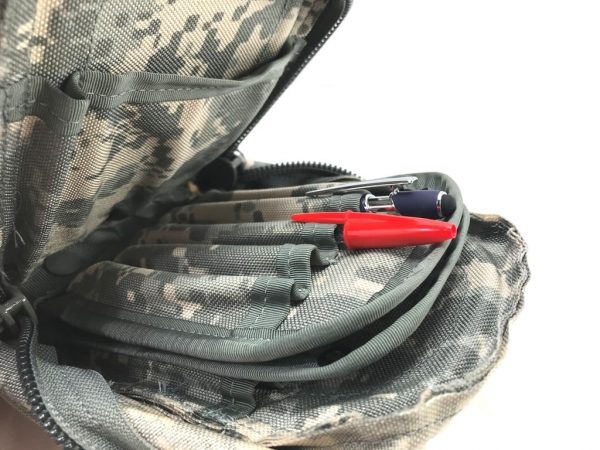 acu molle color leaders pouch with pens