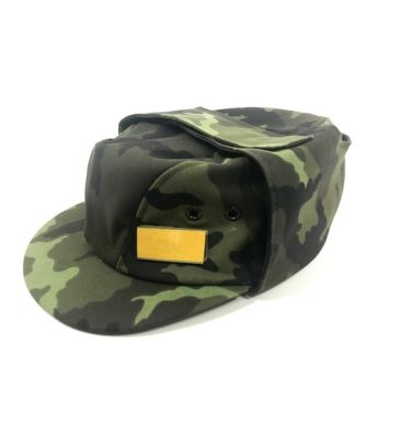 military surplus czech camo fatigue cap cross sabers