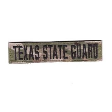 military surplus ocp texas state guard name strip patch