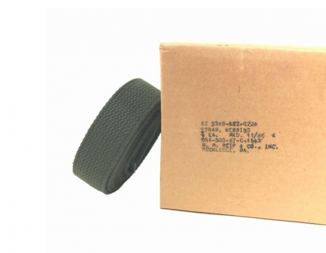 military surplus vietnam gp 1 1/4 strap, webbing