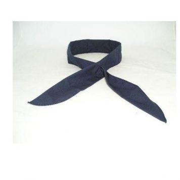 military navy square navy neck tie