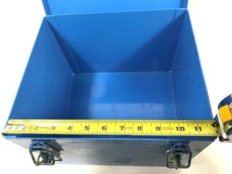 military surplus blue metal storage container box