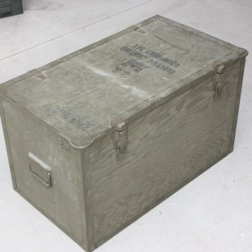 military surplus wood trunk box