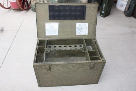 military surplus wood trunk box