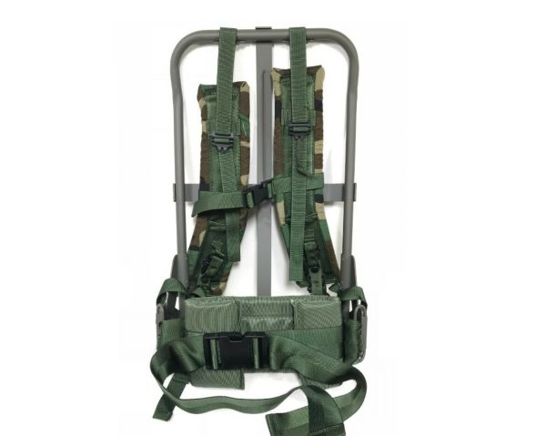 military surplus lc-2 enhanced alice pack frame with woodland straps new