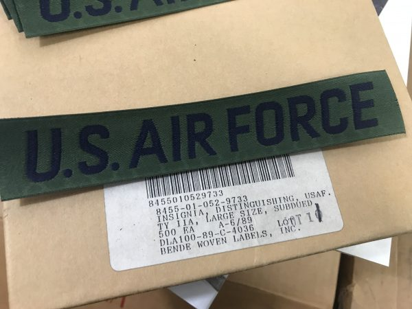military surplus airforce insignia tab