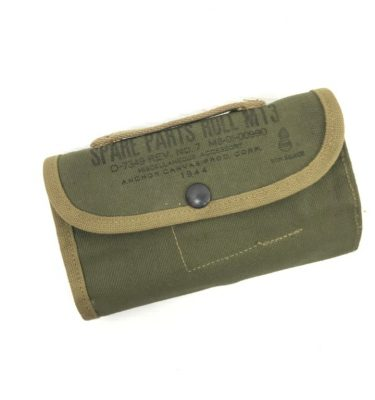military surplus spare parts canvas roll pouch