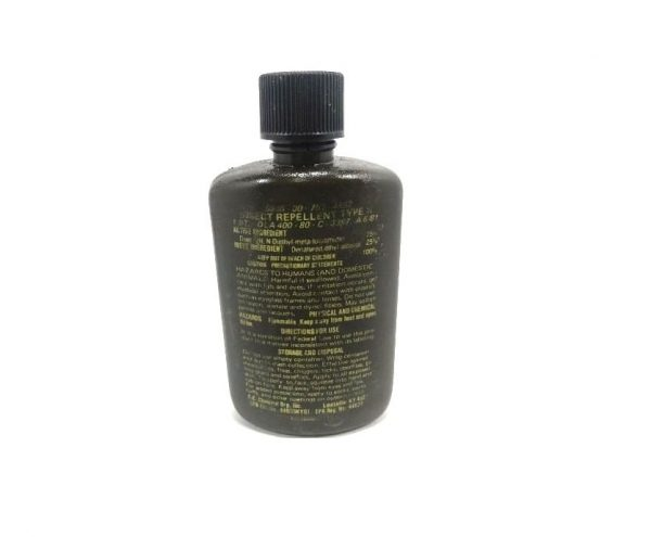 military surplus type 2 insect repellent bottle only