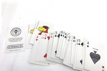 military surplus operation desert storm playing card deck