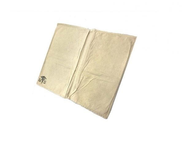 military surplus white cotton linen 2 pocket medical pouch