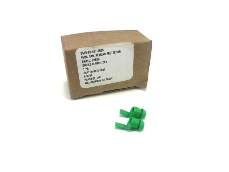 military surplus green small ear plugs, 12 pair in box