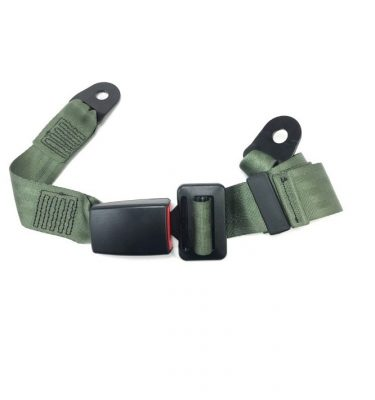 olive drab lap type seat belt for military vehicle
