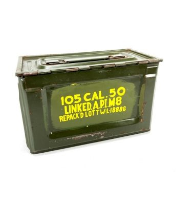 ww2 olive drab m2 browning side open 50 cal ammo box