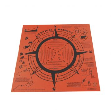 bright orange signal marker survival bandana