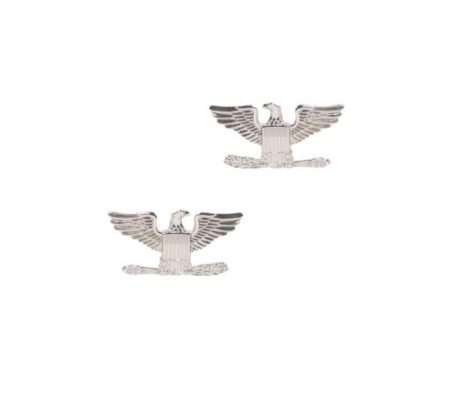 army pin on officer rank colonel nickel plated