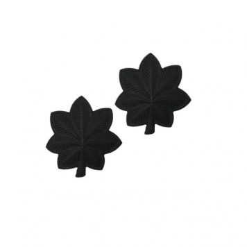 army pin on officer rank lieuntenat colonel black metal
