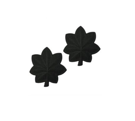 army pin on officer rank lieuntenat colonel black metal