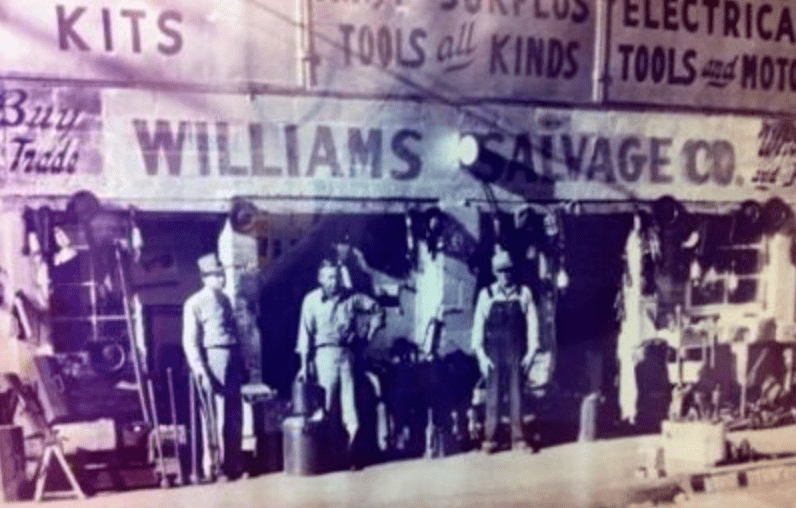vintage army navy surplus store sign